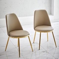 골드 릴체어 디자인 인테리어 식탁의자