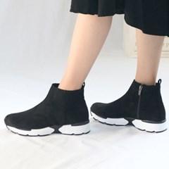 kami et muse Suede fur short ankle boots_KM19w253