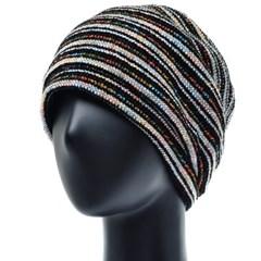 [플릭앤플록]RSS10.팬시 스트라이프 여성 비니 엄마 모자