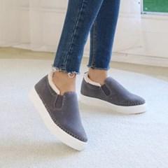 kami et muse Stitch fur slip on sneakers_KM19w260