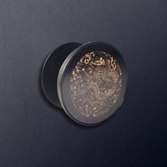 전통문양 곤룡포 블랙 골드 그립톡