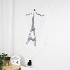 파리 에펠탑 플래그 패브릭 포스터