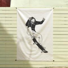 스케이트 보드 일러스트 패브릭 포스터 / 가리개 커튼