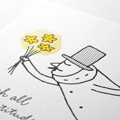 [OJISAN 25th] Letterpress Poster My Gratitude