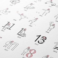 [OJISAN 25th] Letterpress Poster History