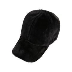 퍼 로고 포인트 볼캡 블랙