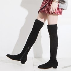 ami et muse Flat heel suede knee high boots_KM19w261