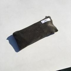다크 그린 골덴 필통(Dark green corduroy pencil case)