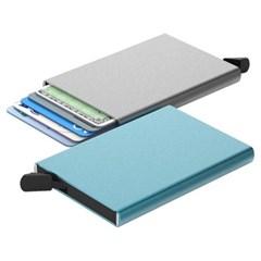 스킨즈 메탈 슬라이드 신용카드 홀더 케이스 (실버)_(901127743)
