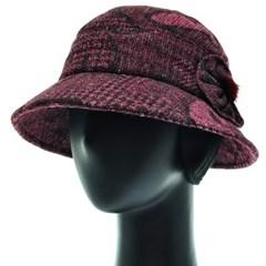 [플릭앤플록]RCU18.패턴 귀달이 중년 여성 벙거지 모자
