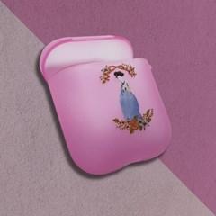 신윤복 미인도 꽃분홍색 에어팟 케이스