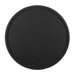 무광블랙 양면 원형 손거울 2배확대 접이식 화장 미러