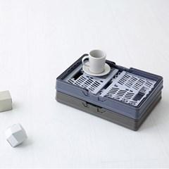 플라스틱 접이식 수납 정리함 박스 폴딩박스_(2238947)