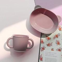 곰돌이 모양 실리콘 아기컵  물컵