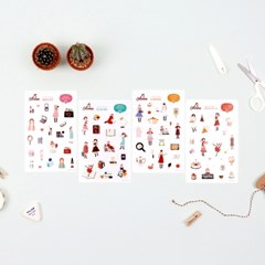 빨간머리 앤 투명 스티커 4types