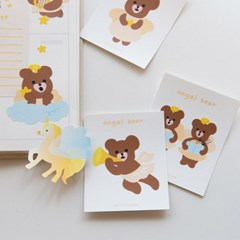 Angel BEAR 시리즈 - 조각스티커 SET(6ea)