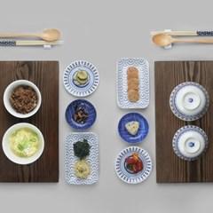 블루라인 데일리 혼밥 그릇세트 2인 16p