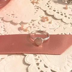 [925실버 원석 하트 반지] 핑크마더펄하트링