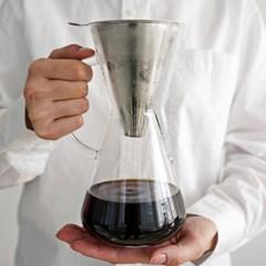[칼딘] 반영구 스테인리스 커피 드리퍼 핸드드립세트 KN-05 600ml