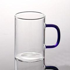 로하티 유리 머그잔(300ml)(블루) / 내열유리컵