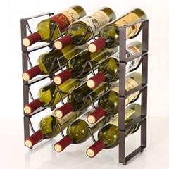 엔틱 물결 와인렉(3열 4단)/조립식 스틸 와인거치대