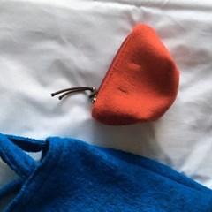 헤비 울 오렌지 파우치 (Heavy wool orange pouch)