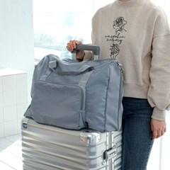 [무배+사은품]투팩 확장형 보스턴 폴딩백 여행용가방 캐리어결합