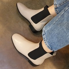 kami et muse Wide elastic banding slim ankle boots_KM19w267