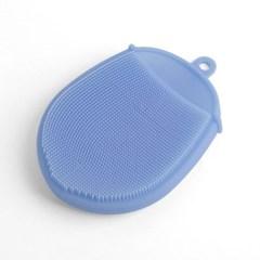 실리콘 수세미(블루) / 주방수세미