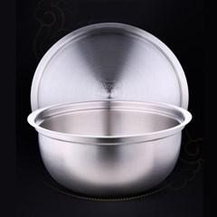 [쿠킹스]뚜껑 스텐 믹싱볼(23.5x10cm)/주방 스텐볼