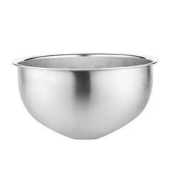 [쿠킹스]스텐 채반 믹싱볼(26x12.5cm)/쌀 야채 세척볼