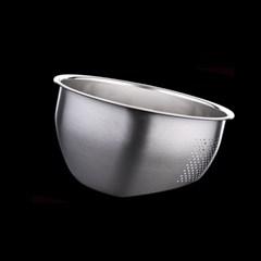 [쿠킹스]스텐 채반 믹싱볼(23x12cm)/쌀 야채 세척볼