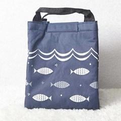 시원한 피크닉 물고기 딥블루 쿨러백 CH1457462
