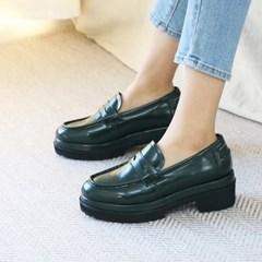 kami et muse Double heel platform enamel loafers_KM19w272