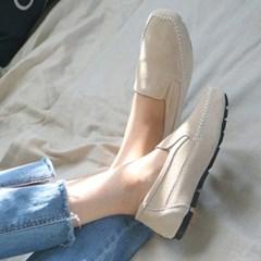 kami et muse Fine stitch comfort suede loafers_KM19w271