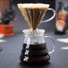 핸드메이드 유리 커피 포트 - 600ml_(1260224)