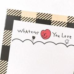 [사심굿즈]whatever you love 메모패드