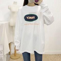 마쉬옐로우 팬시 프린팅 레터링 라운드 티셔츠