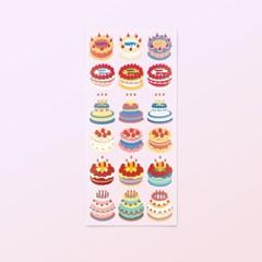 [스튜디오 퐁듀] Happy Birthday My Love 빈티지 케이크 씰스티커
