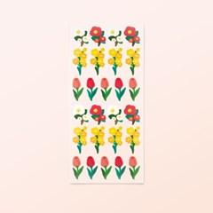 [스튜디오 퐁듀] Flower 플라워 씰스티커