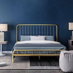 아파트32 홈 골드 철제 비트 침대 프레임/ 슈퍼싱글(1200x2000)