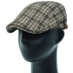 [플릭앤플록]RMH42.체크믹스 격자 헌팅캡 남성 모자
