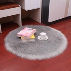 리넥 장모 원형&타원러그 디자인 거실매트
