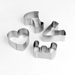 스테인리스 LOVE 쿠키틀 4p / 쿠키커터