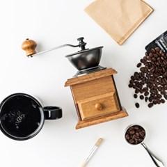 [칼딘] 원목 커피그라인더 원두그라인더 서랍형 CM-A1+청소솔 증정