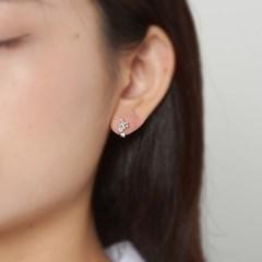 펄 큐빅 트리플 귀걸이