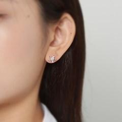 인플라워 큐빅 귀걸이