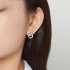 오팔링 크라운 귀걸이