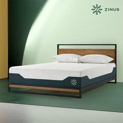 지누스 젤 스프링 매트리스 (30cm/Q)+듀얼사이드 필로우2개