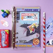 Cassette Sticker Pack_Meow Mix